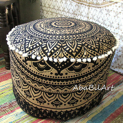 40 LARGE MULTI Color Indian Pouf Cover Footstool Cotton Seat Extraordinary Indian Pouf Covers