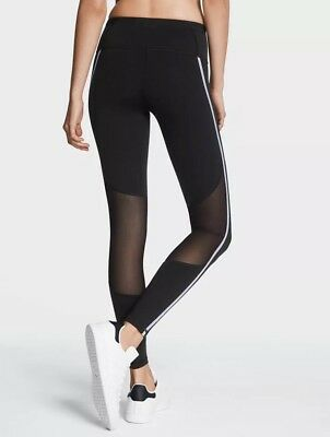 7e45bae5017a9 NEW VICTORIA'S SECRET KNOCKOUT VSX SPORT silver shine tight leggings Sm  Short