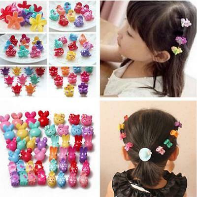 10pcs Assorted Plastic Baby Kids Hair Clips Mini Claw Girls Hairpins Clamp