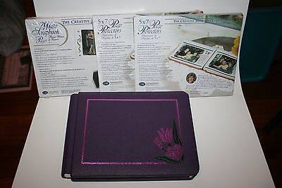 Creative Memories 5x7 Sweet Blossoms Purple Album + Pages +Protectors BRAND NEW