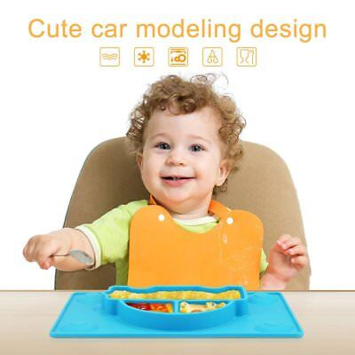 Child Letter Plate Kids Snack Food-silicone Baby Safety Feeding Tableware AU