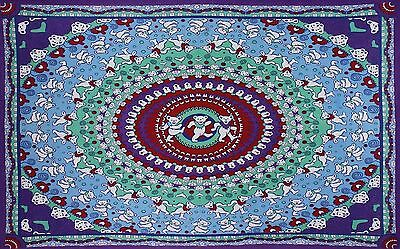 Cotton Grateful Dead Tapestry Wall Hanging Classic Dancing Bear 30 x 45 inches
