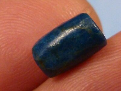 ANCIENT NEOLITHIC BLUE SCORZALITE RAREST BEAD 10.4 BY 6.6 MM c/o the pumtekman