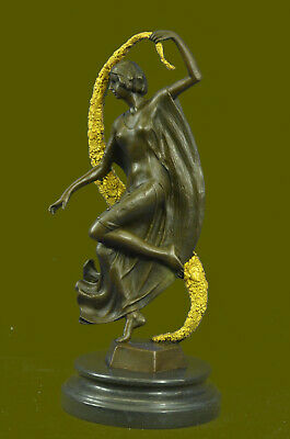 Handmade Guirande (French, active 20th century), Art Deco style bronze Deco