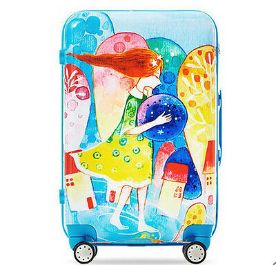 "24"" Cartoon Coded Lock ABS+PC Universal Wheel Travel Suitcase Luggage Trolley"