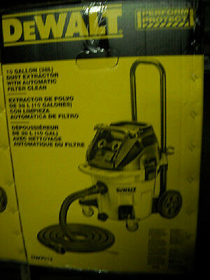 DeWalt DWV012 10 Gallon HEPA Dust Extractor Automatic Filter Clean Shop Vacuum
