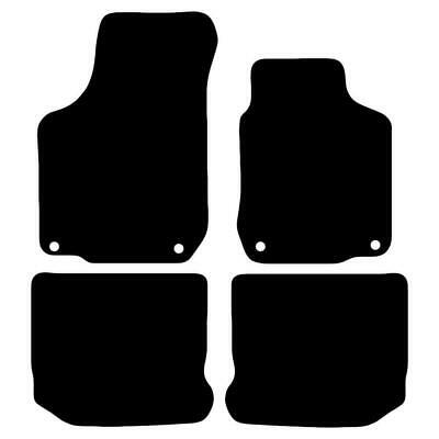 Tailored Black Car Floor Mats Carpets 4pc Set with Clips for Volkswagen Golf MK4