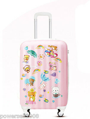 "28"" TSA Lock Universal Wheel Pink Animal Pattern ABS+PC Travel Suitcase Luggage"