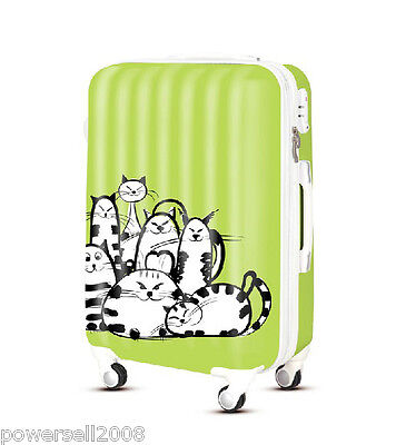 "28"" New TSA Lock Universal Wheel Cats Pattern ABS+PC Travel Suitcase Luggage"