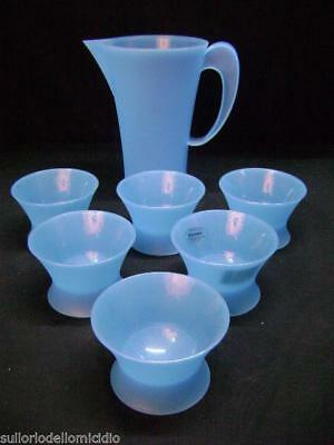 Batch of six cups and carafe guzzini vintage modern antiques