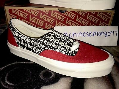 FEAR OF GOD x VANS ERA 95 Reissue PACSUN FOG RED SIZE US9.5