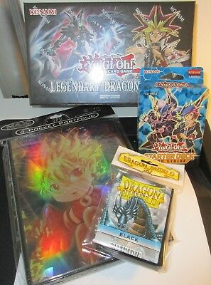 Yu-Gi-Oh Link Strike Deck, Legendary Dragon Decks, Hüllen, Ordner, Neu, Deutsch