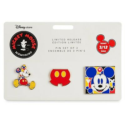 Disney Store Exclusive Mickey Mouse Memories Pin Set - March - Sold Out!