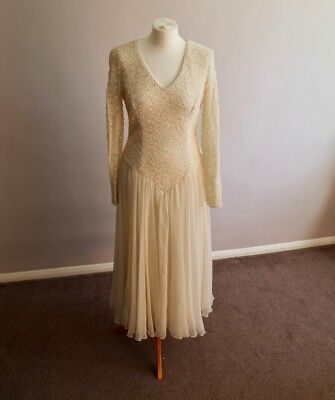 John Charles Evening Wear Size 14 Vintage Ivory Wedding Dress - never been worn