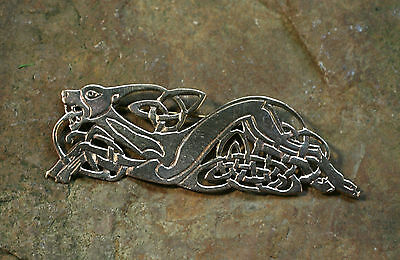 Brooch Celtic Dog Bronze Big Cloth Nail Celtics Celtic Knots Dog