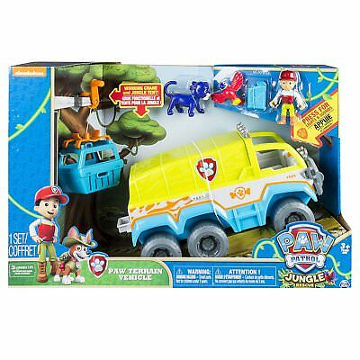 NEW Paw Patrol Jungle Rescue Paw Terrain Vehicle with Ryder, Baby Panther Truck