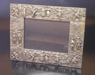 Unique 19th c. Silver over Copper Hallmarked Picture Frame with Easel Back, N.R.