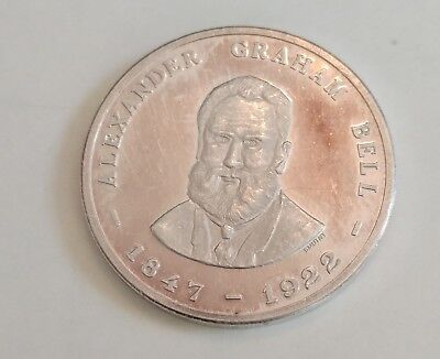 Alexander Graham Bell > One Troy Ounce 999 Pure Silver Token !!!