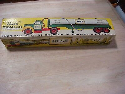 "1964 Hess ""B"" Mack Tanker Trailer 'The First Hess Toy Truck w/box,& instructions"
