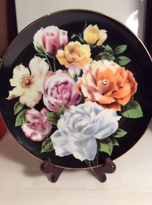 "Collector Plate ""Rose"" From The Flower Gardens Of Count Bernadotte Danbury Mint"