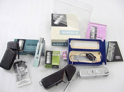 Minox B Camera Outfit Flash Camera Cases Chain Etc. Mint ? Used ?