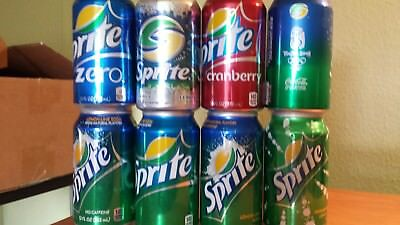 Sprite , leere Dosen , USA , regular , diet , Cranberry