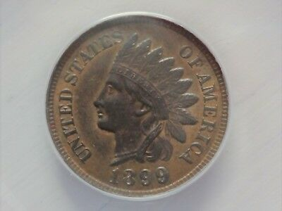 1899 Indian Head Cent - ANACS Certified - MS 62 BRN