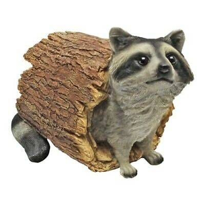 Statue Garden Outdoor Raccoon Decor Lawn Yard Sculpture Patio Design Animal New