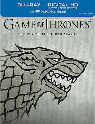 Game of Thrones: The Complete Fourth Season (Blu-ray Disc, 2015, Stark DireWolf