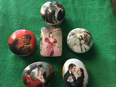 Lot of 6 - Gone With the Wind porcelain music boxes by WS George Co.