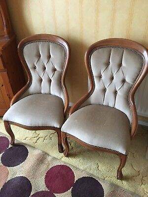 occasional accent chair pair of antique/french style