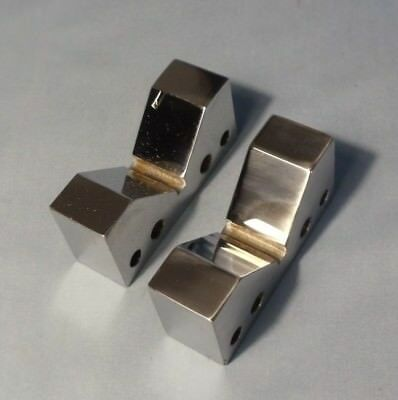 "Pair (2) 2.75"" x 1.26"" x 0.87""  (70 x 32 x 22 mm)  Steel - Chrome V-BLOCK SET"
