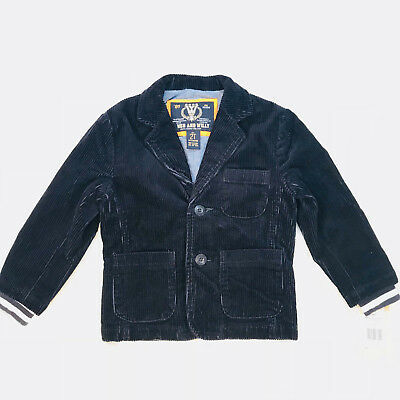 """Wes And Willy Boys Navy Wide Wale Corduroy Blazer Toddler Boys Nwt""""  Easter"""