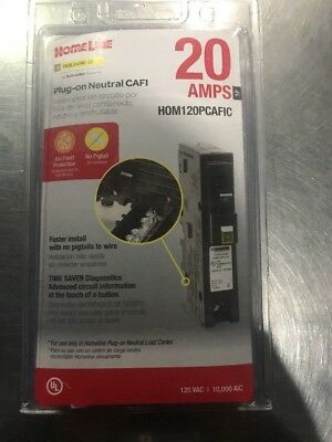 New Square D by Schneider Electric HOM120PCAFIC Homeline Plug-On Neutral 20 Amp