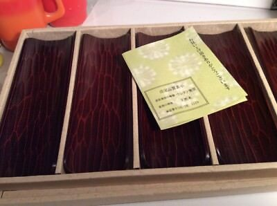 Japanese Wooden Sushi Dishes In Original Box