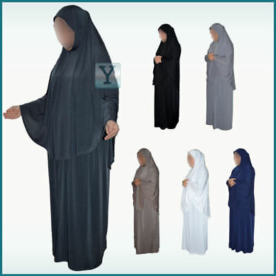 2 Piece Prayer Set Headscarf Skirt islamic  Hijab Abaya Khimar Umrah Hajj Jilbab