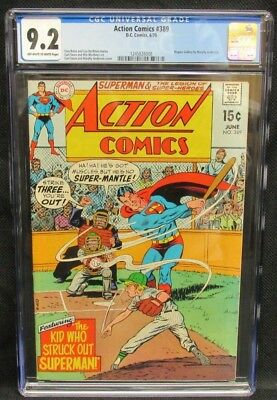 Action Comics #389 (1970) Rogues Gallery CGC 9.2 Off-White to White Pages CV560