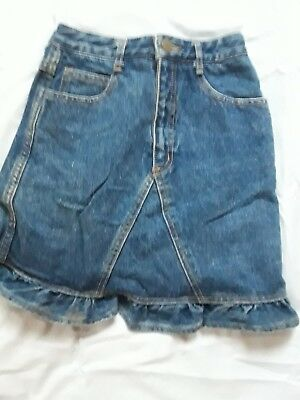 Vintage Georges Marciano for Guess Girls Denim Jean Skirt Size 14