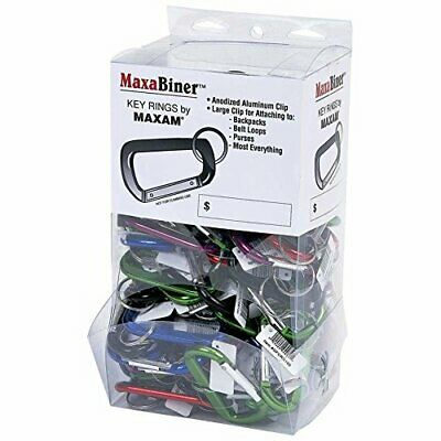 Maxam 100Pc Maxabiner Clips In Countertop Display