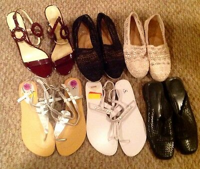 Womens Gently Used Lot Of 6 Shoes 8 1/2m