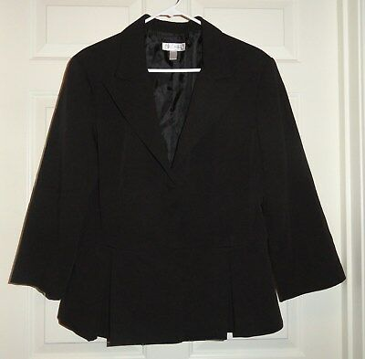 Women's Black Dress Jacket-XL