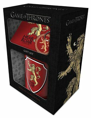 ORIGINAL Pyramid Game of Thrones HBO Tasse Becher Cup Lannister Gift Set