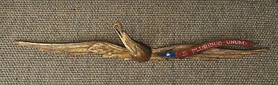 "Large Bellamy Style American Folk Art Hand Carved Eagle 44 1/2"" from Nantucket"