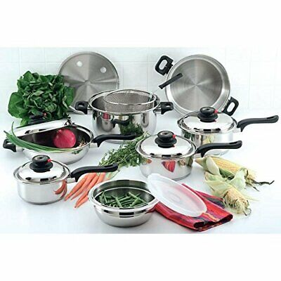Direct Sale Chef'S Secret 15Pc 12-Element T304 Stainless Steel Cookware