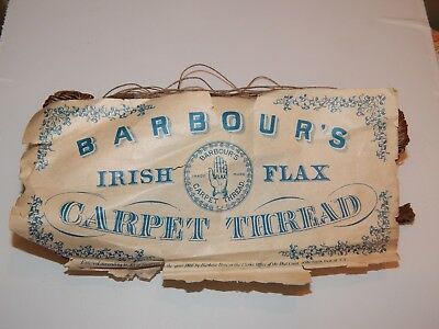 Vintage Barbour's Irish Flax Carpet Thread 182 Grams - Rare OOAK Estate Find!