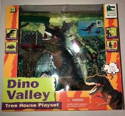Toys R Us Animal Planet Dino Valley Tree House Playset T Rex Misb