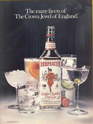 """""""The Crown Jewel of England"""". 3 Item Lot of Beefeater Gin Magazine Print Ads"""