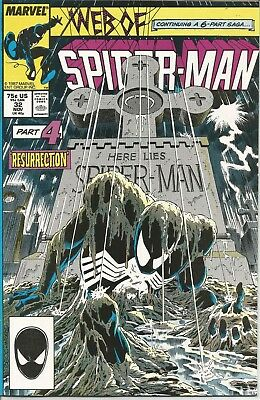 Web of Spider-Man #32 | VF+ | Kraven's Last Hunt pt. 4 | Marvel Comics