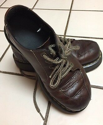 11511fede76b DOC DR MARTENS Brown Leather 5 Eye Oxford Shoes UK 6 US Mens 7 Womens 8