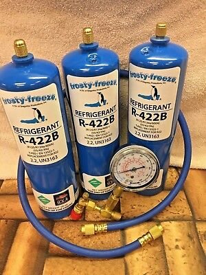 Refrigerant R422B, R-422B,  (3) 28 oz. Disposable Cans, R22, R-22 Replacement
